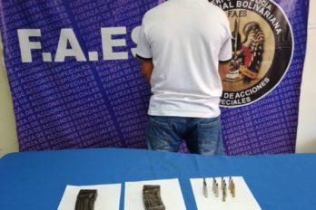 Faes decomisa municiones en Angostura del Orinoco. Un ciudadano de 46 años fue aprehendido durante el procedimiento.