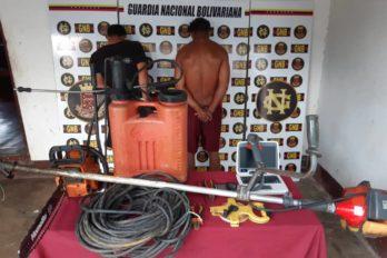 Detenidos dos azotes de fincas en El Palmar