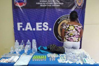 Mujer escondía más de 100 insumos y medicamentos para venderlos