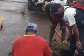 Atendidos en Las Teodokildas por colapso en redes de aguas servidas