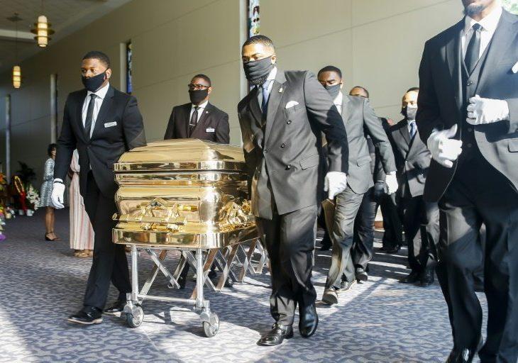 Entre reclamos de 'justicia', sepultan a George Floyd en Houston