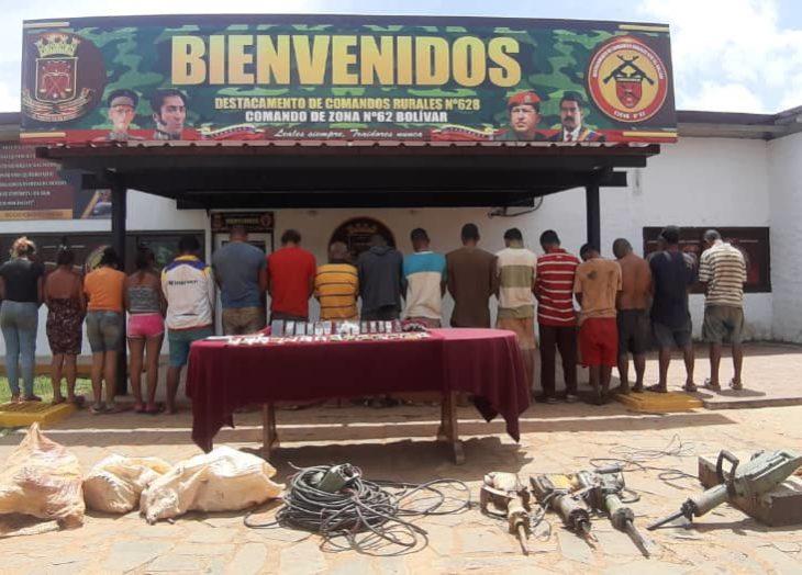 """GNB captura en El Callao a 19 integrantes de la banda de """"Toto"""" y """"Zacarías"""""""