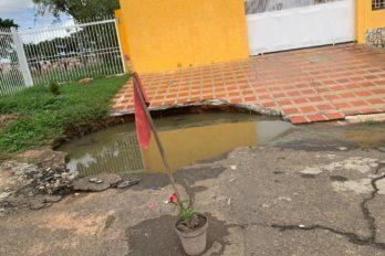 En la urbanización Nara temen explosión de tanquilla eléctrica inundada