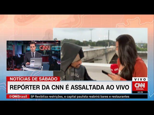 Asaltan con cuchillo a reportera de CNN mientras transmitía en vivo