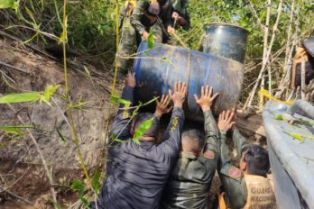 GNB desmanteló campamento clandestino de combustible