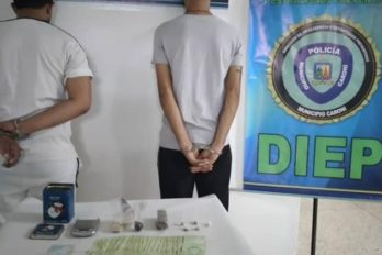 Dos detenidos por comercializar droga en Villa Colombia