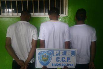 Capturan a tres jóvenes por intento de homicidio en el mercado de San Félix