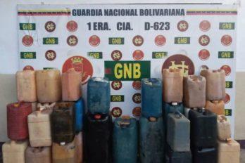 Desmantelan depósito clandestino de combustible en Santa Elena de Uairén