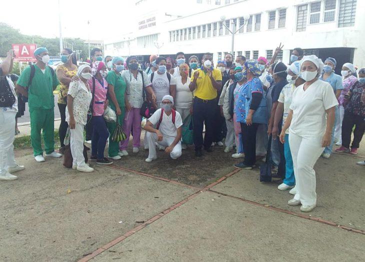 Personal de salud del Ruiz y Páez reclama equipos de bioseguridad