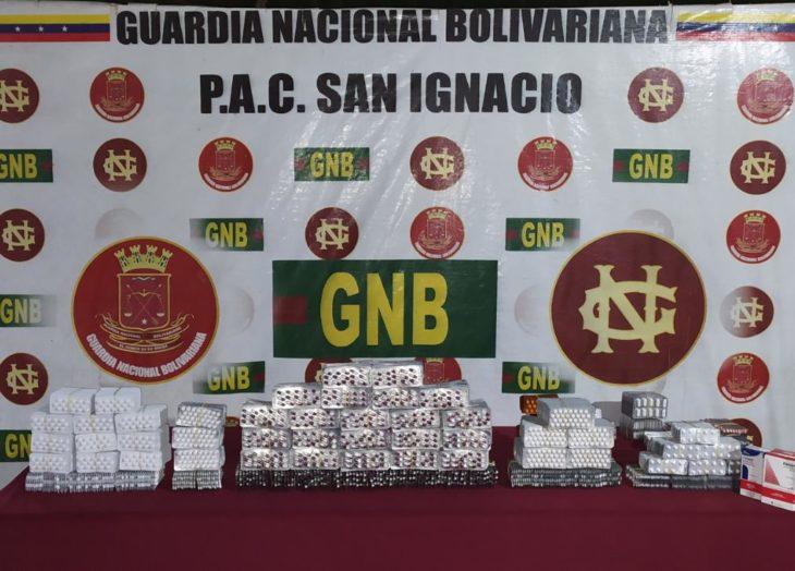 GNB retiene más de 20 mil pastillas ilegales trasladadas desde Brasil