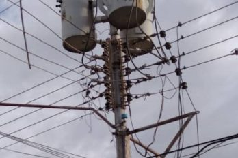 Comunidades sin luz por explosión de transformadores