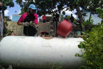 Atienden a Los Alacranes con suministro de gas