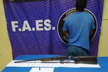 Sujeto será procesado por porte ilícito de una escopeta