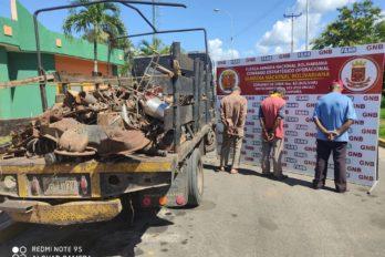 Decomisan más de un kilogramo de hierro en la parroquia Yocoima