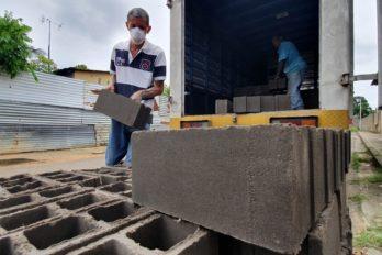 Gestión Justo Noguera entrega materiales de construcción a familias de Bolívar