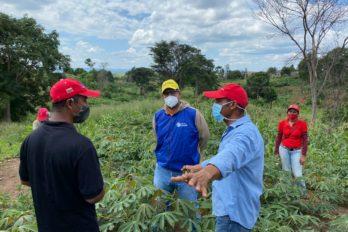 Alcalde de Caroní apoya a sectores con mecanización de tierra y semillas