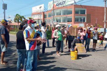 Trancas y pancartazo en Puerto Ordaz por falta de agua y gas