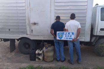Llevaban combustible oculto en un camión