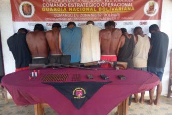 Militares capturaron a otros nueve miembros de la banda el Perú