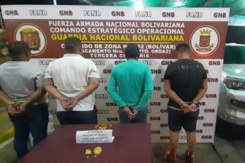 Cuatro detenidos por tráfico ilegal de oro