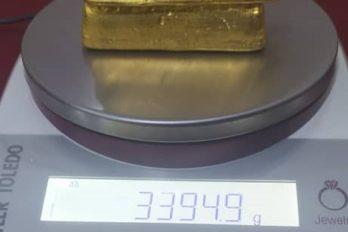 Capturados con más de 3 kilogramos de oro