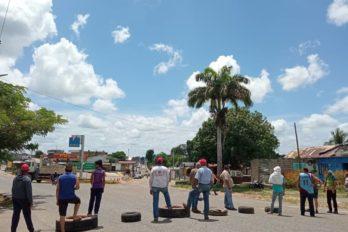 Guasipati continúa protesta por combustible