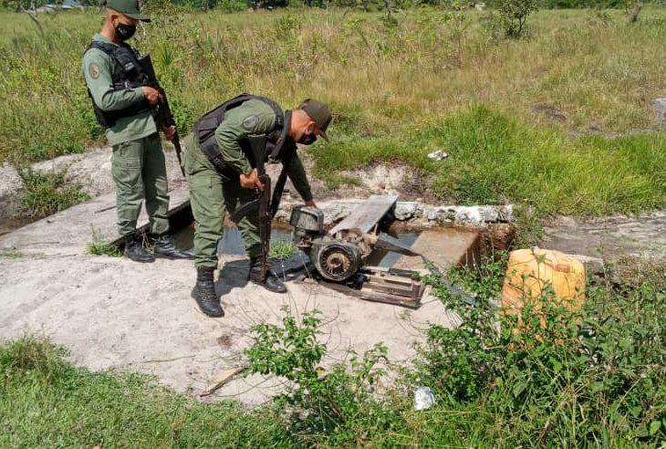 Desmantelan campamento minero en Gran Sabana