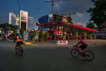 Aumento de ciclistas y peatones ante falta de gasolina