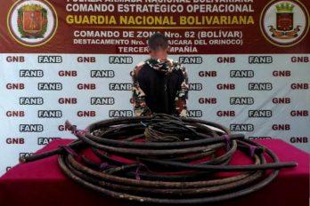 Militares lo detuvieron hurtando cobre de Bauxilum