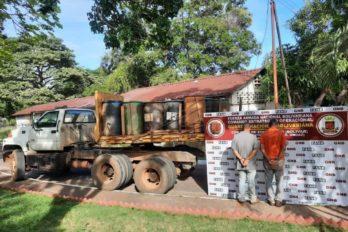Incautan más de 4 mil litros de gasoil en Cambalache