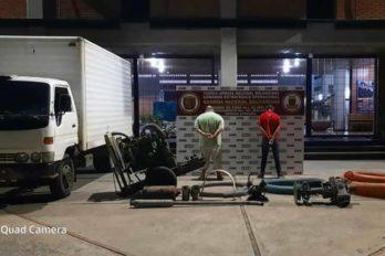 Militares decomisan materiales para la minería ilegal