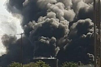 Reportaron incendio en depósito de aceites usados en Sidor