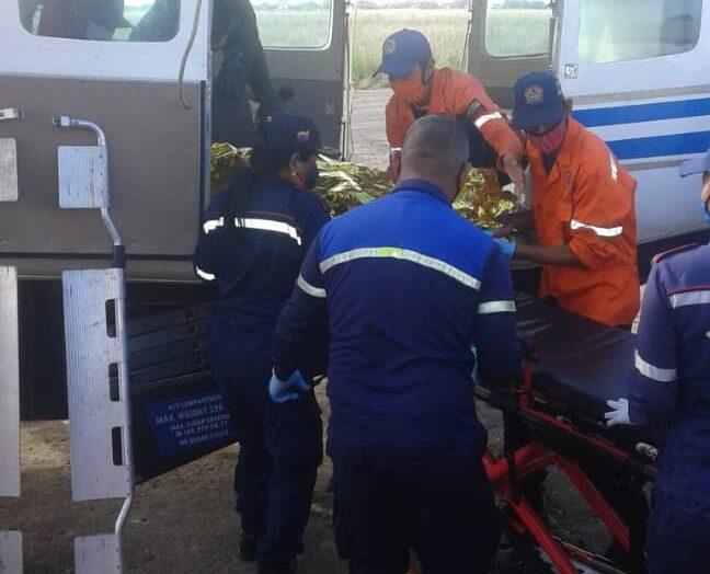 Trasladan a Ciudad Bolívar a heridos por explosión de cisterna