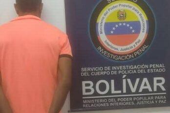 SIP-Bolívar aprehende a dos hombres solicitados por juzgados