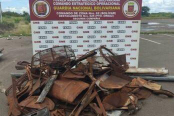 Militares decomisan chatarra en Luis Hurtado Higuera