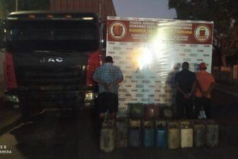 Militares decomisan gasoil que sería trasladado a Santa Elena de Uairén