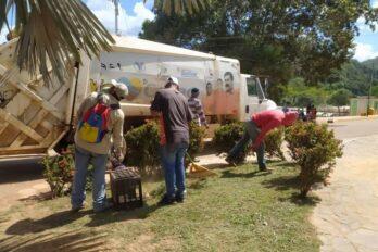 Limpian calles y avenidas del municipio El Callao