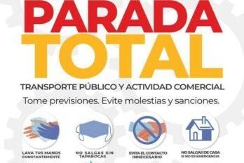 Parada total de zonas comerciales y transporte público este domingo