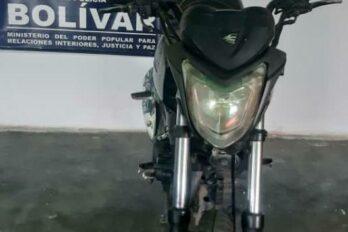 SIP-Bolívar recuperó moto usada para asaltar