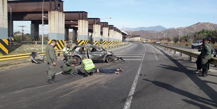 Militar involucrado en fuerte accidente de tránsito